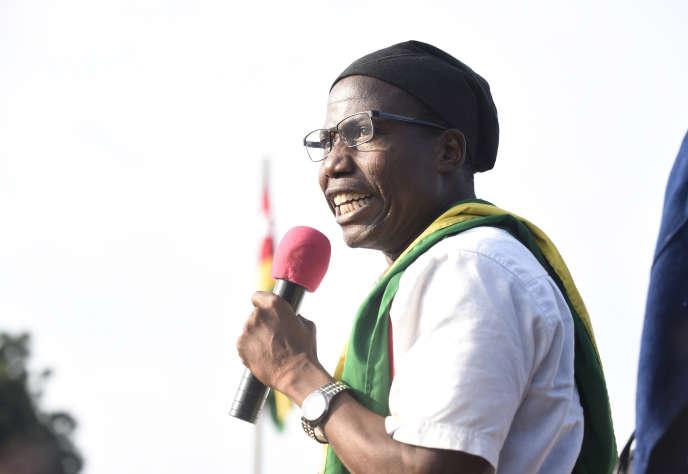 Tikpi Atchadam, le leader du Parti national panafricain, à Lomé, le 6septembre 2017.