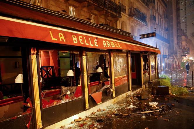 Le restaurant La Belle Armée, avenue de la Grande-Armée à Paris, le 1er décembre.