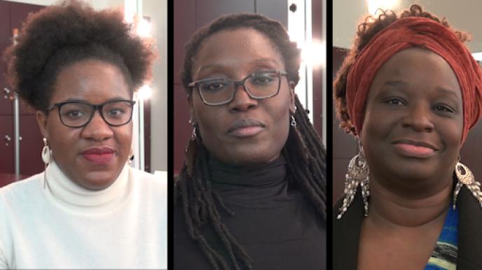 Laura Nsafou, bloggueuse, Mame-Fatou Niang, chercheure, Axelle Jah Njiké, auteure.