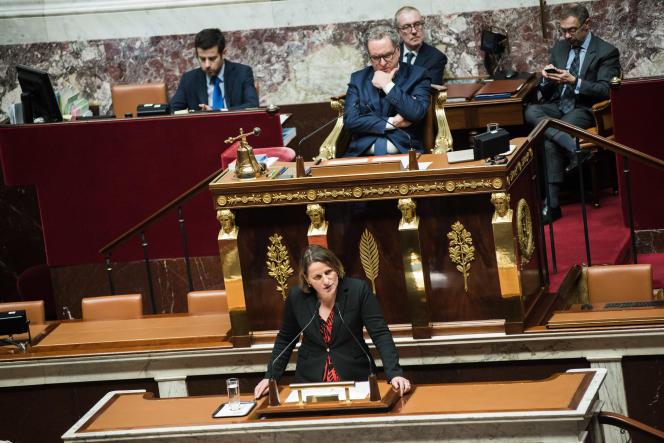 La deputee socialistes et apparentés Valerie Rabault le 5décembre.