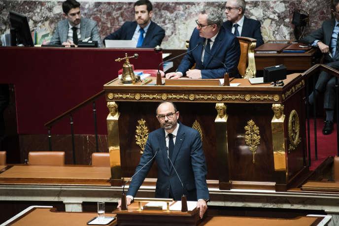 Le premier ministre, Edouard Philippe, à la tribune de l'Assemblée nationale, le 5 décembre.