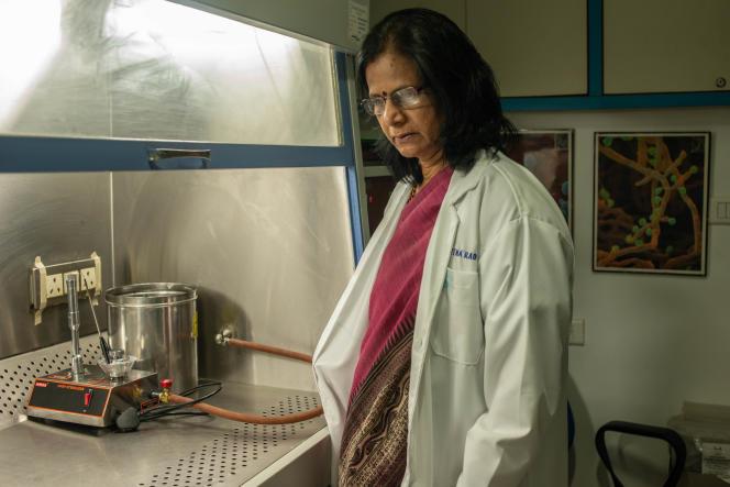 Ratna Rao, microbiologiste en chef de l'Apollo City Hospital, s'inquiète des pollutions industrielles : dans les zones urbaines, plus de neuf Indiens sur 10 sont porteurs de bactéries multirésistantes.