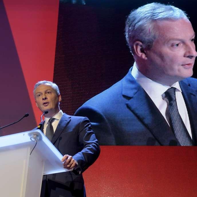 «Ce n'est pas parce que l'activité de l'entreprise produit des bénéfices que ces derniers suffisent à fournir le sens du travail qui s'y réalise» (Photo: le ministre de l'économieBruno Le Maire à Paris, le 6 décembre).