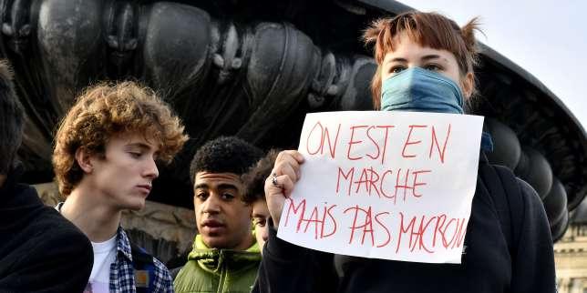 Manifestation de lycéens à Bordeaux, le 5 décembre.