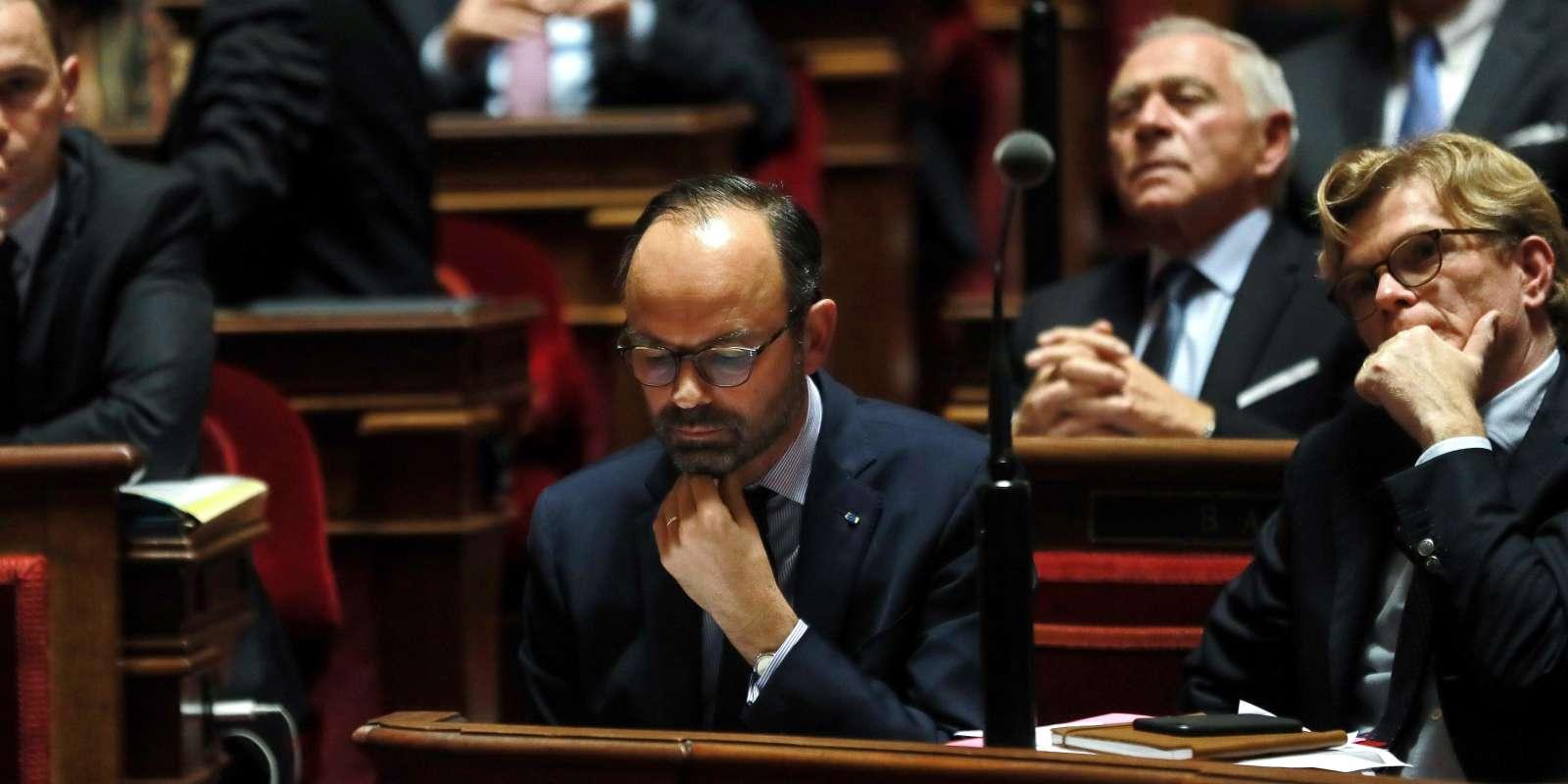 Edouard Philippe au Sénat, jeudi 6 décembre.