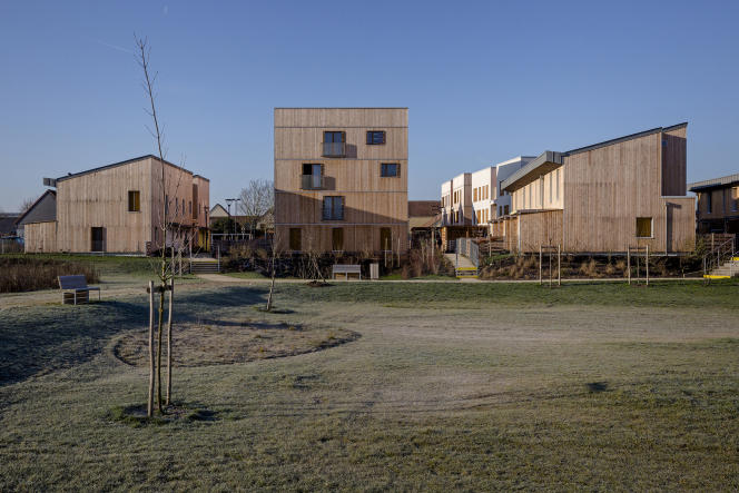 L'écoquartier des Noés à Val de Reuil, dans l'Eure (Normandie).