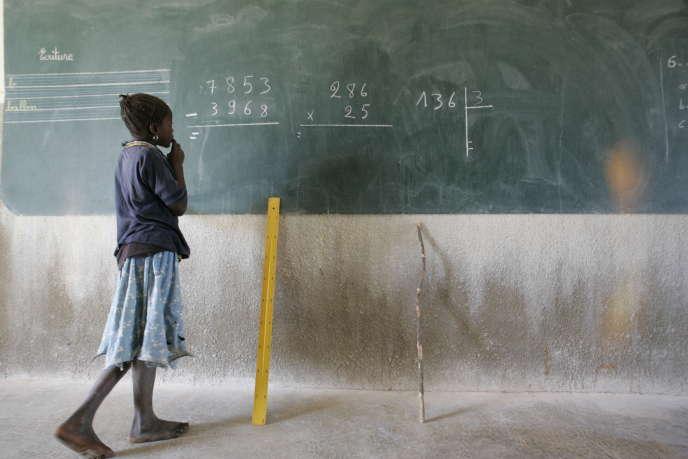 Dans une école burkinabée en novembre 2004.