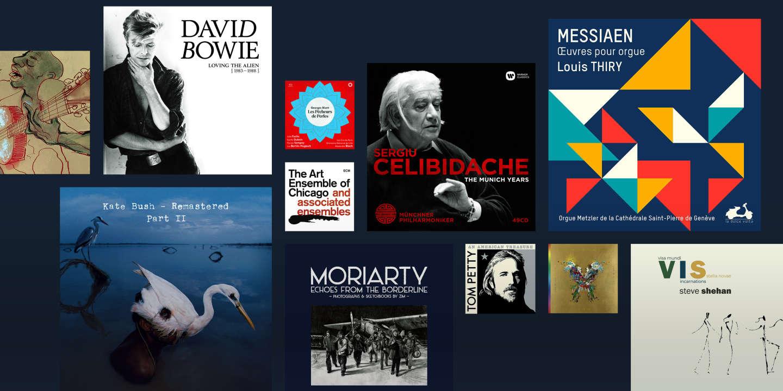 Composite de la sélection CDs Noël 2018
