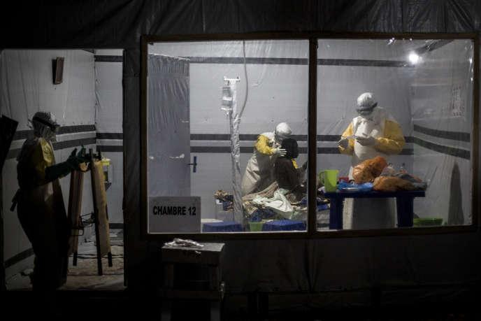 Un centre de traitement du virus Ebola soutenu par Médecins sans frontières, le 3 novembre 2018 à Butembo, à l'est de la République démocratique du Congo.