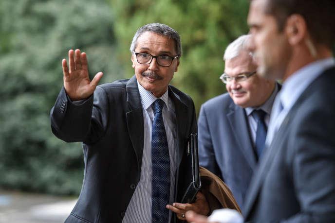 Le chef de la délégation sahraouie, Khatri Addouh, à Genève, le 5décembre 2018.