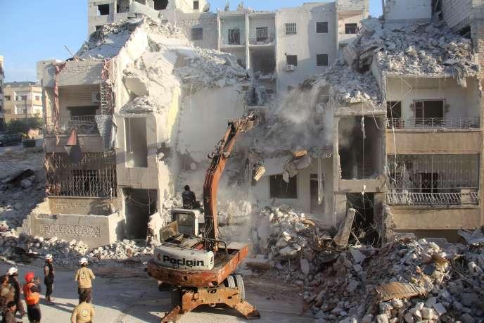Un immeuble après une frappe aérienne, Idlib, Syrie, le 31 mai 2016.