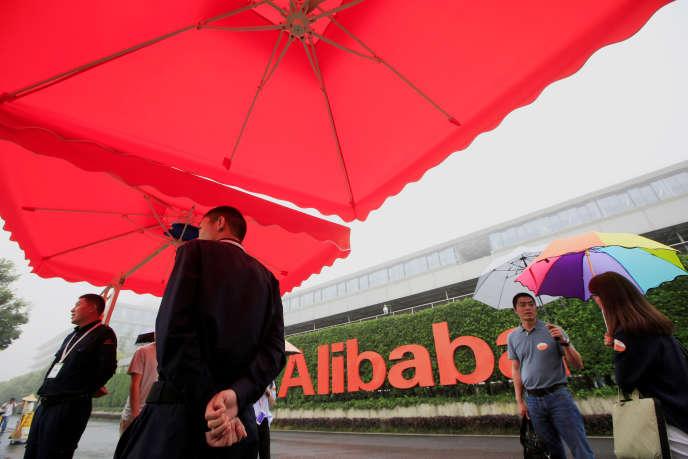 Sur le campus Alibaba à Hangzhou (Chine), en mai 2016.