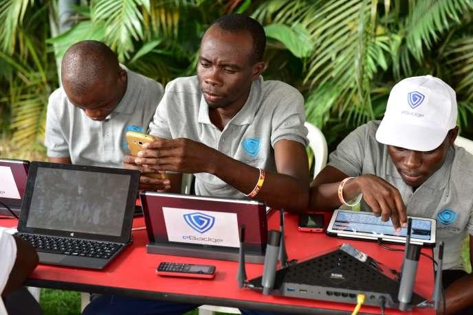 Lors de l'Africa Web Festival, à Abidjan, en novembre 2016.