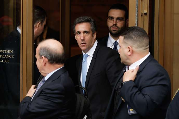 Michael Cohen, l'ex-avocat de Donald Trump, à sa sortie du tribunal fédéral de New York, le 16 avril.