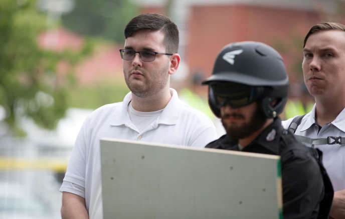 James Fields, durant le rassemblement des nationalistes blancs à Charlottesville, en août 2017.