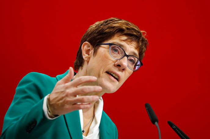 Annegret Kramp-Karrenbauer, àHambourg, le 8 décembre.