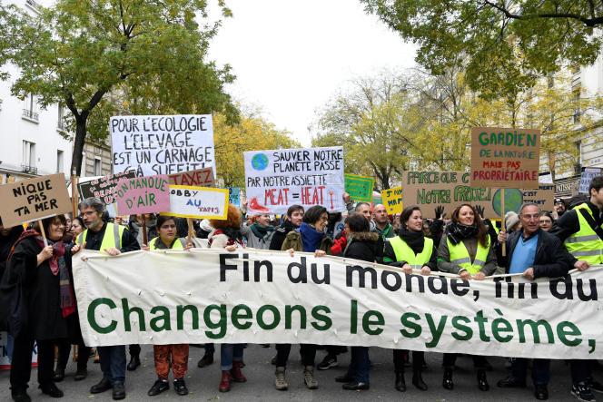 La marche pour le climat à Paris, le samedi 8 décembre.