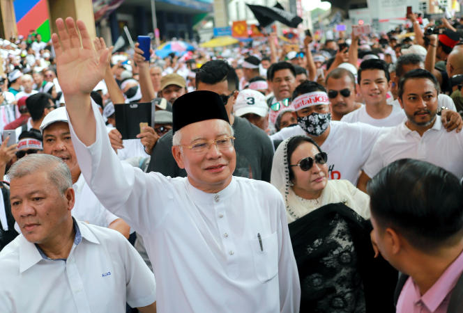 L'ancien premier ministre malaisien,Najib Razak, et son épouse, Rosmah Mansor, à Kuala Lumpur, le 8 décembre 2018.