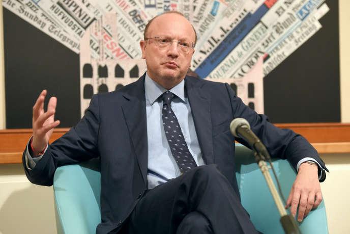 Vincenzo Boccia, le président de Confindustria (le Medef italien), à Rome, en septembre 2016.