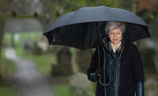 Theresa May, à Maidenhead, le 9 décembre 2018.