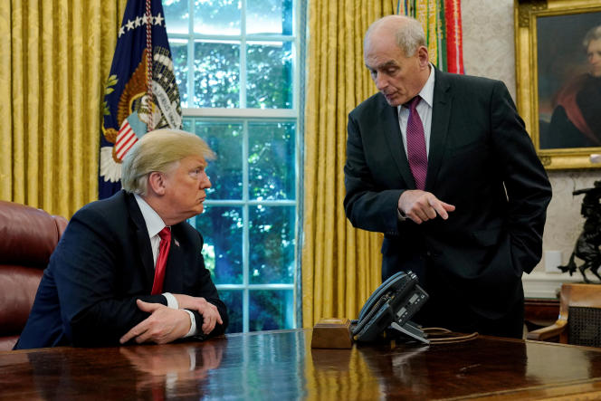 Le président Donald Trump et John Kelly, le 10 octobre 2018.