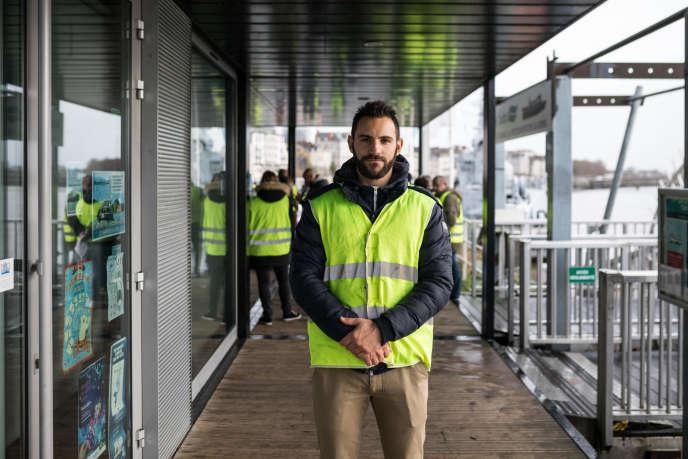 Florian, 33 ans, entrepreneur dans le sportset soutien le mouvement des «gilets jaunes» à Nantes,car «on ne parle plus de bonheur, mais de rémunérations d'actionnaires» .