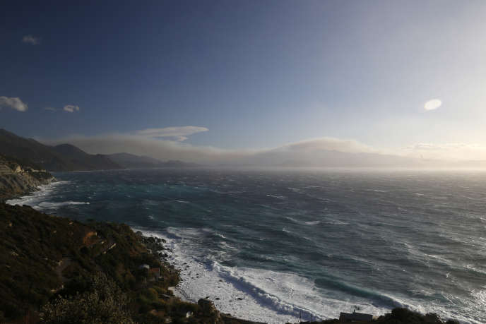 Des pointes de vent jusqu'à 210 km/h sont attendus« sur le Cap Corse et environs», dimanche 9 décembre.
