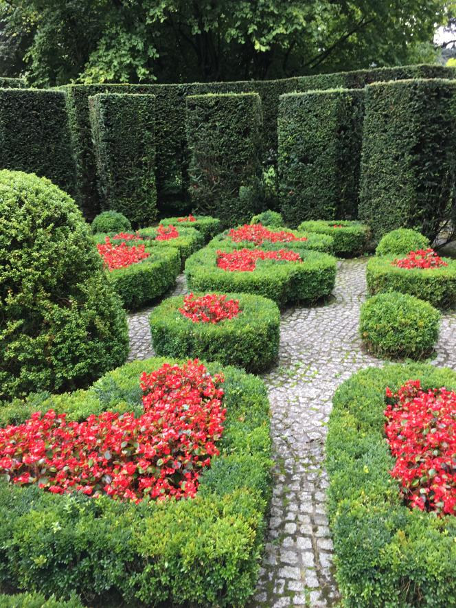 Création emblématique de René Pechère, le «jardin secret» de la propriété Van Buuren, aujourd'hui ouverte au public.
