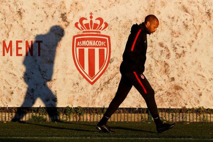 Thierry Henry à La Turbie, le centre d'entraînement de l'AS Monaco, le 10 décembre 2018.