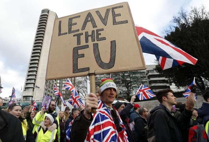 Lors d'une manifestation de soutien au Brexit, à Londres, le 9 décembre 2018.