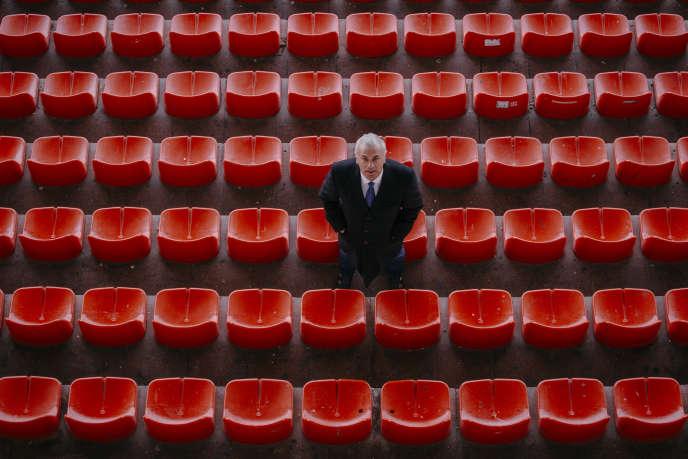 Le directeur général de l'Etoile rouge de Belgrade,Zvezdan Terzic, dans les gradins du stade