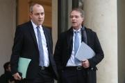 Laurent Berger, secrétaire génétal de la CFDT, et François Asselin, président de la CPME, à l'Elysée, à Paris, le 10 décembre.