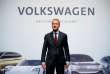 FILE PHOTO: Herbert Diess, Volkswagen's new CEO, poses during the Volkswagen Group's annual general meeting in Berlin, Germany, May 3, 2018. REUTERS/Axel Schmidt/File Photo