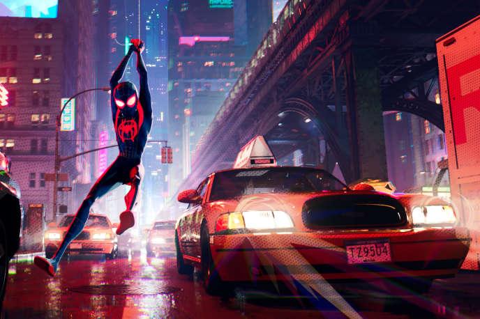 Miles Morales alias Spider-Man dans les nouvelles aventures de l'homme-araignée.