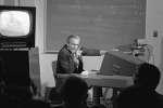 La première démonstration publique d'innovations technologiques, le 9 décembre 1968, à San Francisco, aux États-Unis.