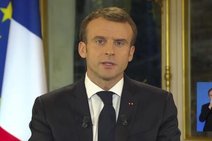 Le président Emmanuel Macron lors de son allocution télévisée, le 10 décembre 2018.