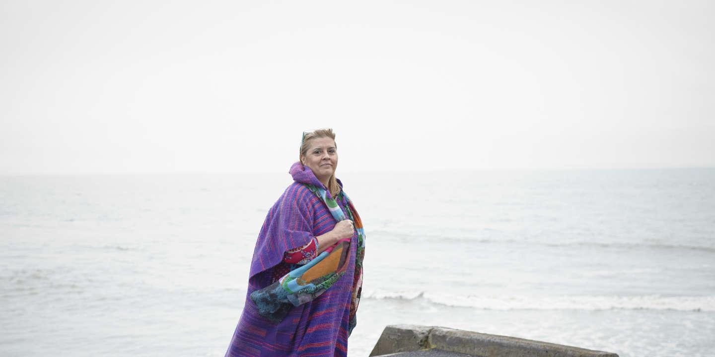 Portrait pour Le Monde d' Emmanuelle verhoeven à Sainte-Marie sur Mer.