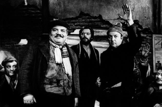 De gauche à droite : Folco Lulli, Marcello Mastroianni et Bernard Blier dans«Les Camarades» (1963), de Mario Monicelli.