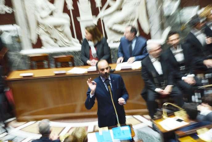 Edouard Philippe, le 11 décembre face aux députés à l'Assemblée nationale.