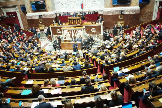 Le premier ministre Edouard Philippe devant l'Assemblée nationale le 11 décembre.