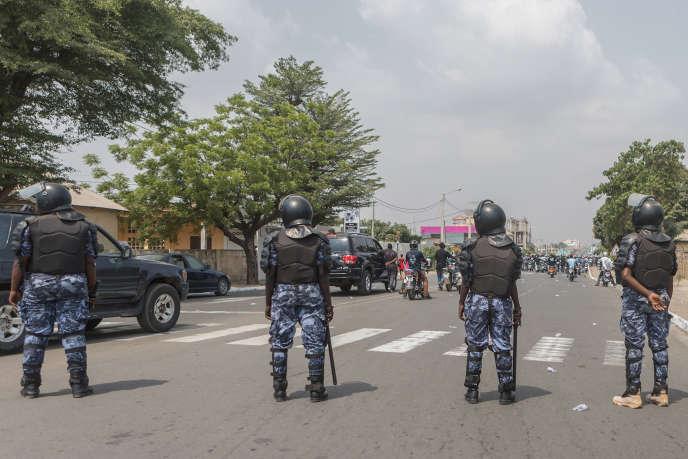 Lors d'une manifestation contre le président togolais, Faure Gnassingbé, à Lomé, le 20janvier 2018.