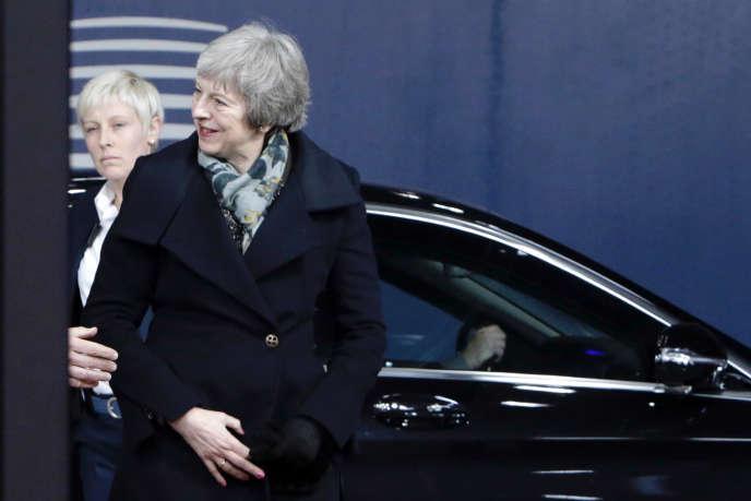 La première ministre, Theresa May, à Bruxelles, le 11 décembre 2018.