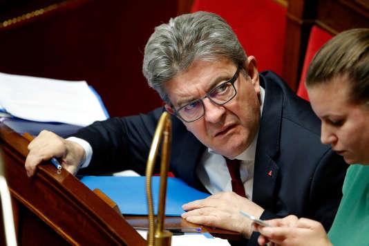 Jean-Luc Mélenchon à l'Assemblée nationale à Paris, le 11 décembre 2018.