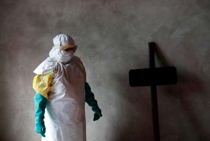 Dans un centre de traitement d'Ebola, à Beni, au nord-est de la République démocratique du Congo, le 9 décembre.