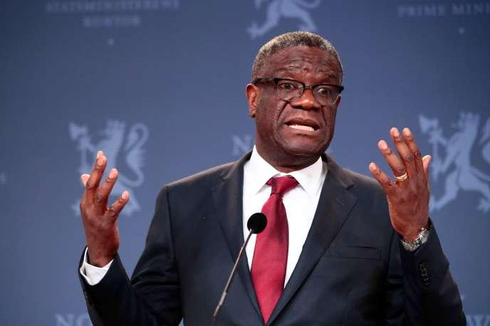 Le Congolais Denis Mukwege, le 11 décembre 2018 à Oslo, en Norvège.