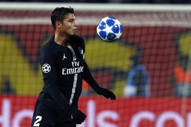 Le défenseur du Paris-Saint-Germain Thiago Silva lors du match retour contre l'Etoile rouge de Belgrade, le 11 décembre 2018, en Serbie.