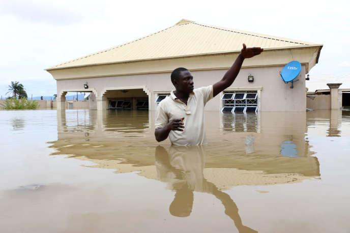 Une inondation près de la ville de Lokoja, au Nigeria, en septembre 2018.
