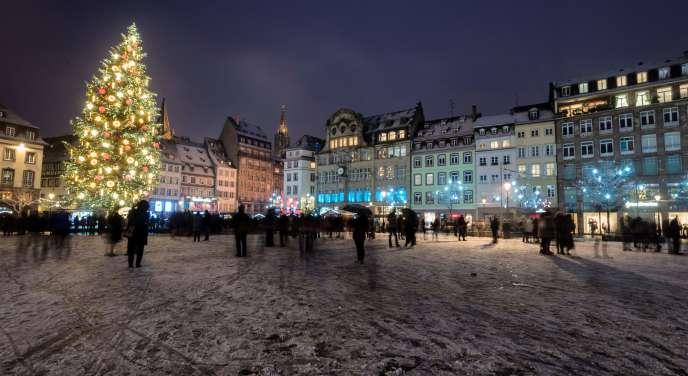 Le marché de Noël de Strasbourg, le 3 décembre.
