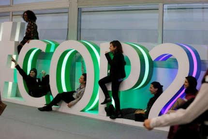 Sur les lieux de la COP24, à Katowice (Pologne), le 11 décembre.