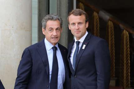 Nicolas Sarkozy et Emmanuel Macron, en septembre 2017 à Paris.